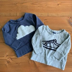 BABYGAP Bundle of 2 Sweatshirts 12-18m